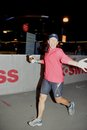 Annemarie running the Ironman