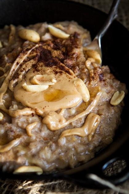 Peanut butter banana oatmeal