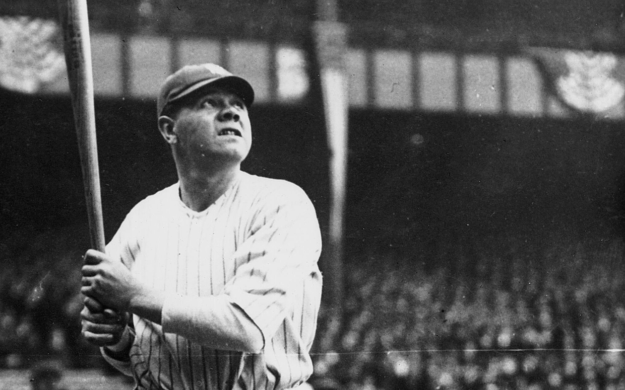 Babe Ruth Batting For NY Yankees