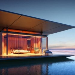 Floating modern tiny homes